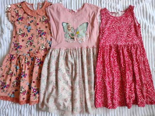 Lote vestidos talla 8-10 años.H&M,Frozen.Ropa niña