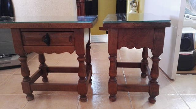 Conjunto muebles castellanos con herrajes de forja