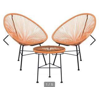 Pack de dos sillas y mesa Acapulco