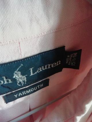 Camisa Ralph Lauren rosa claro nueva