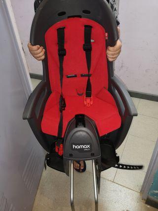 silla portabebes HAMAX Smiley + casco