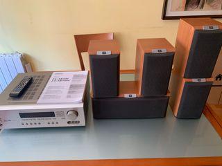 Amplificador y altavoces Home cinema 5.1