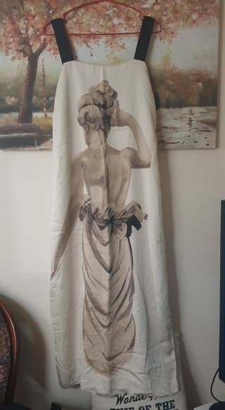 vestido Satin Seda Zara