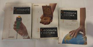 Pack de libros geografía e historia