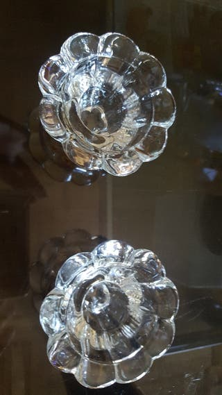 Palmatorias de cristal