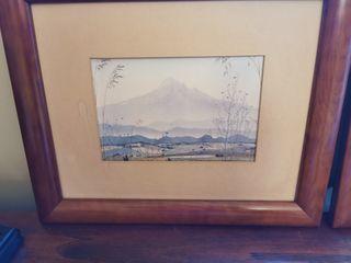 Dos cuadro estampas japonesas
