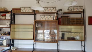 Mueble vintage salón negocio 3 x 3 mtros