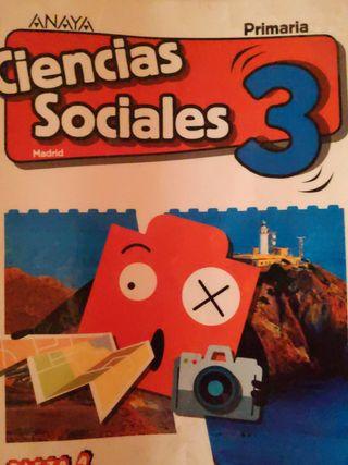 Libro de Ciencias Sociales 3 Primaria. Anaya.