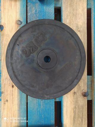 Disco. Pesa musculación. 20 kg