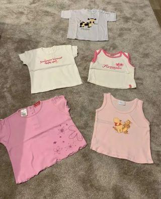 Camisetas niña 0-6 meses