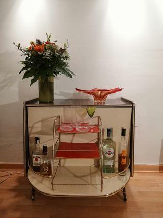 Mueble bar auxiliar años 60 vintage