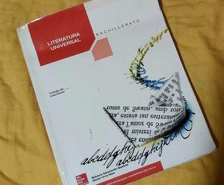 Libro Literatura Universal, bachillerato.