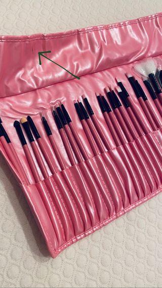 Set estuche brochas maquillaje profesional
