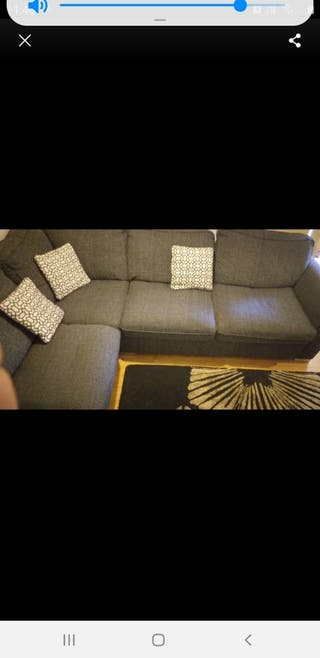 Large sofa with an extra seat