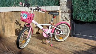 Bici de niña Decathlon , 16 pulgadas.