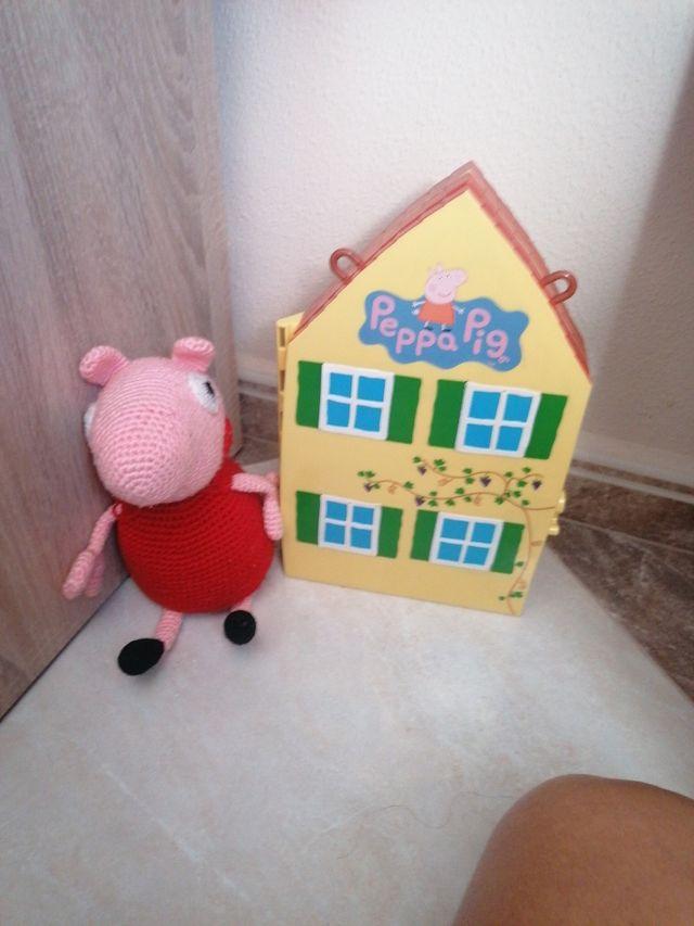 peppa pig casa y peluche