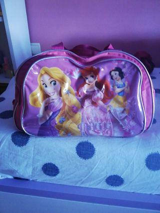 bolsa viaje princesa y mochila descendientes