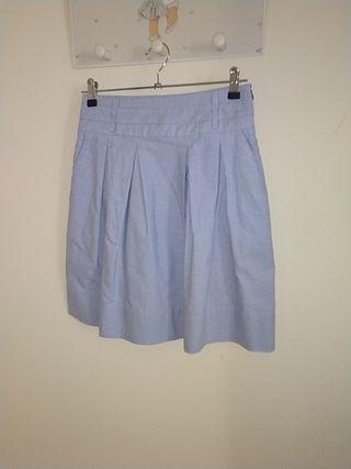 Falda azul Zara talla S