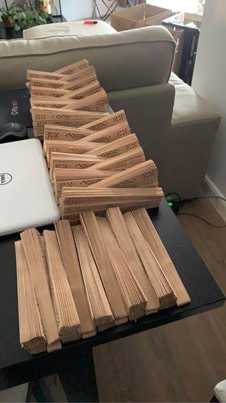 Abanicos para boda en madera