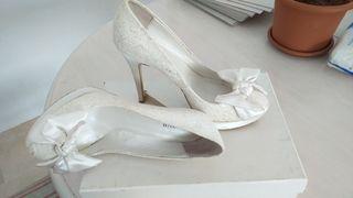 zapatos blancos membur (novia)