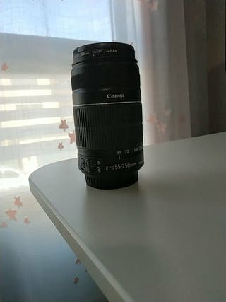 Objetivo Canon EFS 55-250mm macro 0.85m/ 2.8ft