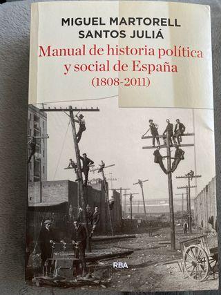Manual de historia política y social de España