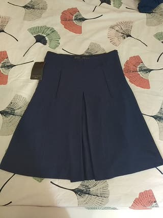 Falda de Zara Azul Marino