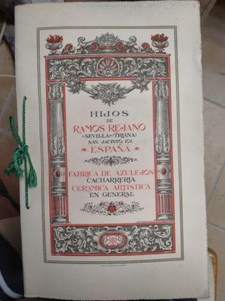 catálogo antiguo de azulejos relieve sevillanos