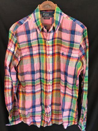 POLO RALPH LAUREN Camisa cuadros lino M - L