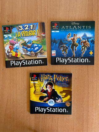 Manuales juegos Play Station