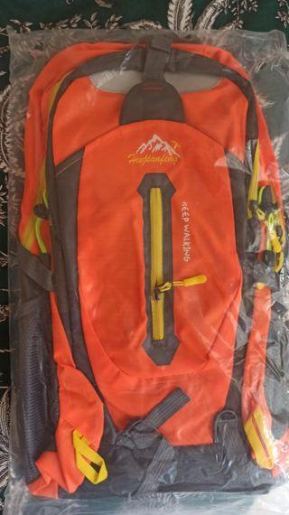 Mochila Naranja 40L Senderismo, camping, escalada