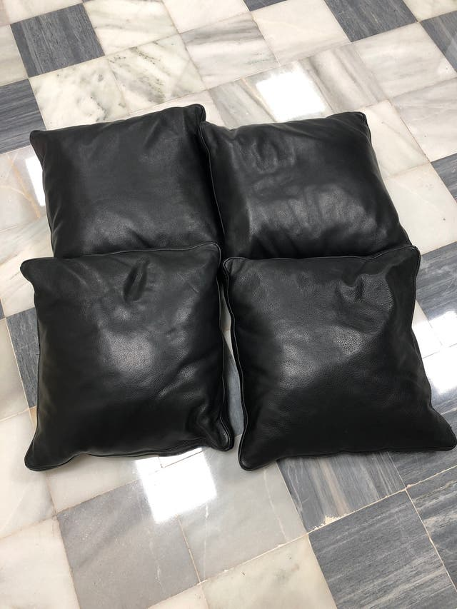 Pack de 4 cojines de piel