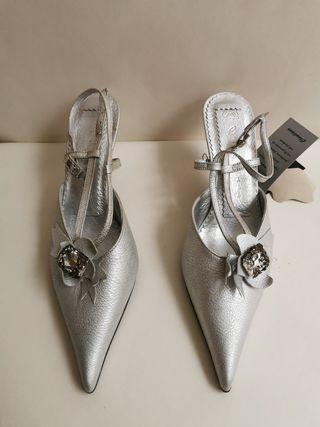 sandalia Claudiana M7047 plata