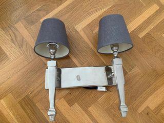 Lámpara de pared -Candelabro plata
