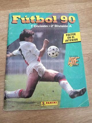 Álbum fútbol 90 Panini con Peter interior.