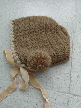 Conjunto capota, manoplas y bufanda