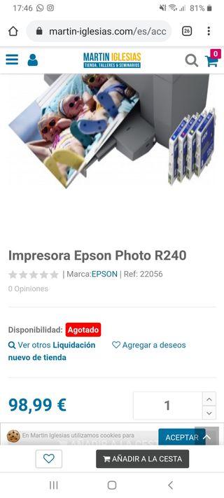 impresora Epson funciona correctamente