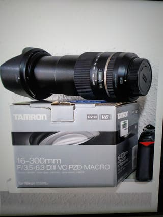 objetivo Tamron 16-300 mm DII VC PZD macro
