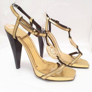 Sandalias Loewe doradas