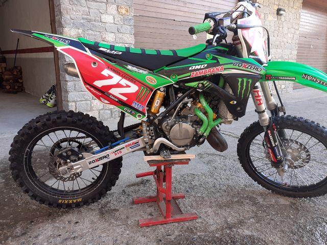 moto de cross kawasaki 85cc