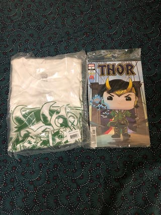 Camiseta y Comic Loki Funko Pop Caja Exclusiva