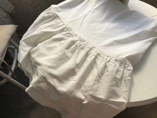 CUBRE CANAPÉ para cama de matrimonio, color blanco