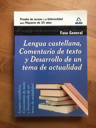 Lengua castellana acceso universidad +25