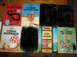 5 Comics Tintín + 1 Astérix (Francés)