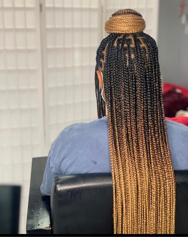 Tresses africaines extensions cousues et noeuds
