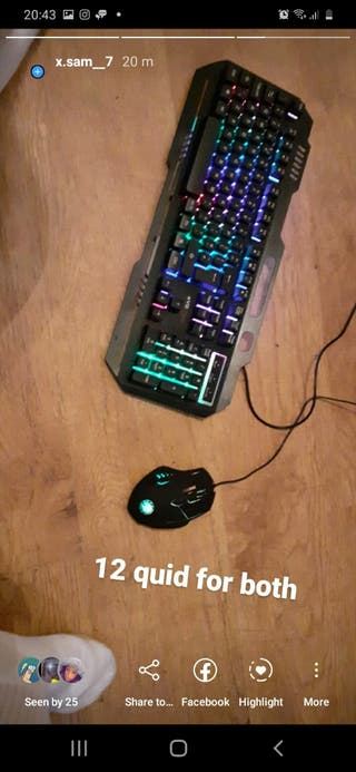 gaming keybord and mouse