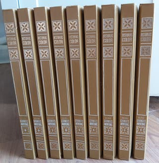 HISTORIA COLOR. GRANDES AVENTURAS.9 TOMOS.ED 1974