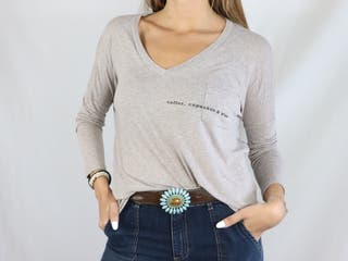 Camiseta marrón Renatta & Go Talla Única