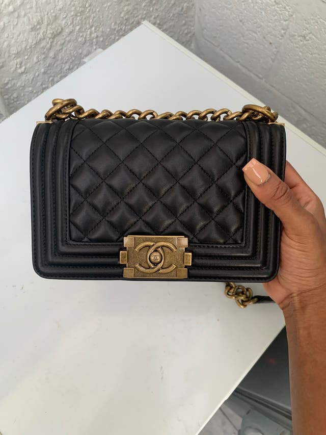 Chanel Boy Black Bag Small With Box Brand New