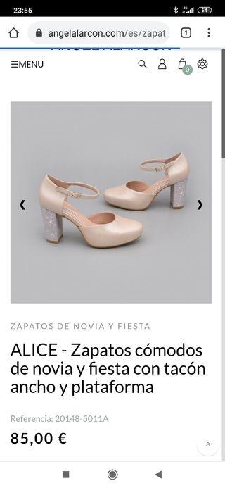 zapato de novia o fiesta